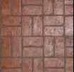 brick stamped concrete design