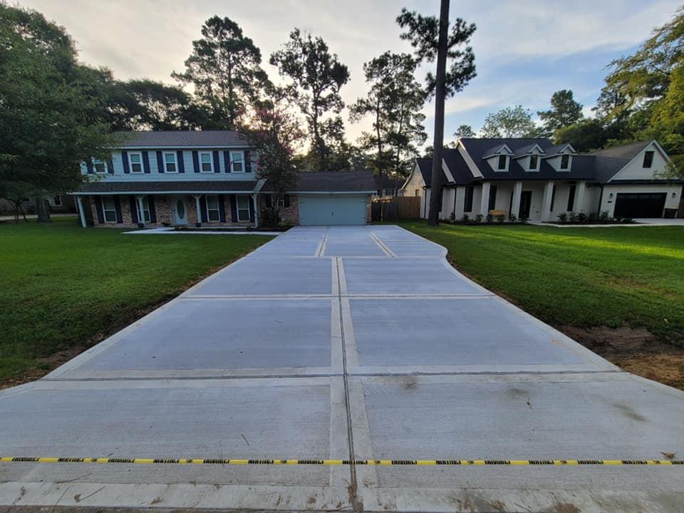 concrete driveways in houston