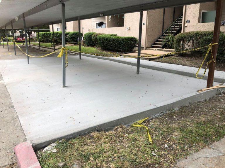 concrete parking lot for concrete