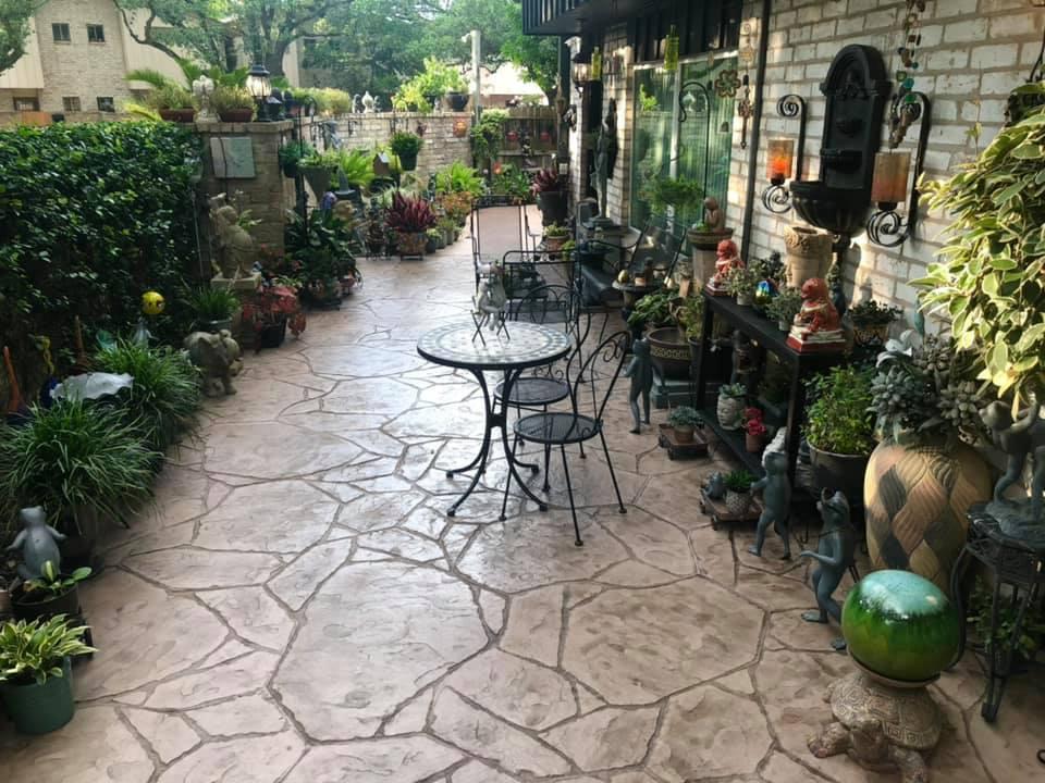 backyard patio stamped