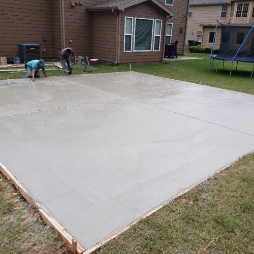 large concrete slab